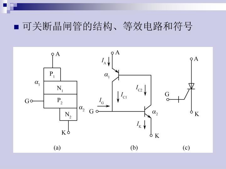 可关断晶闸管的结构、等效电路和符号