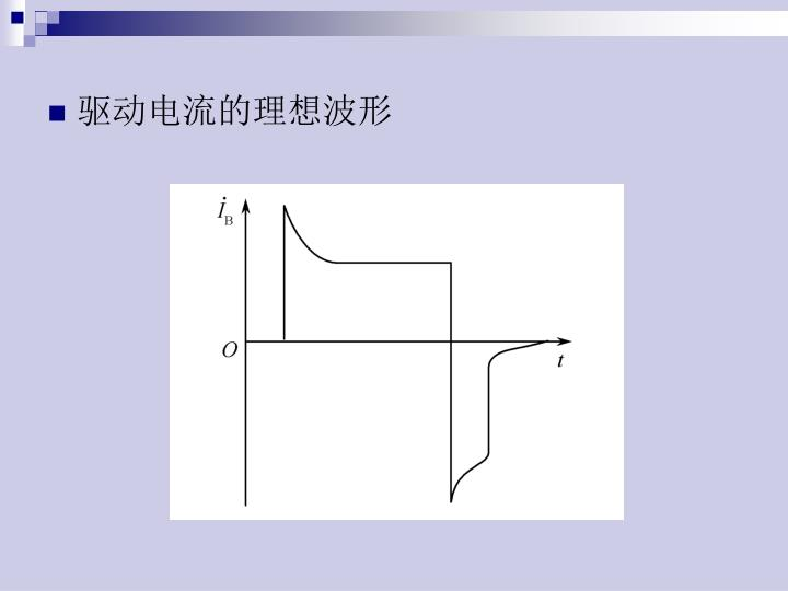 驱动电流的理想波形