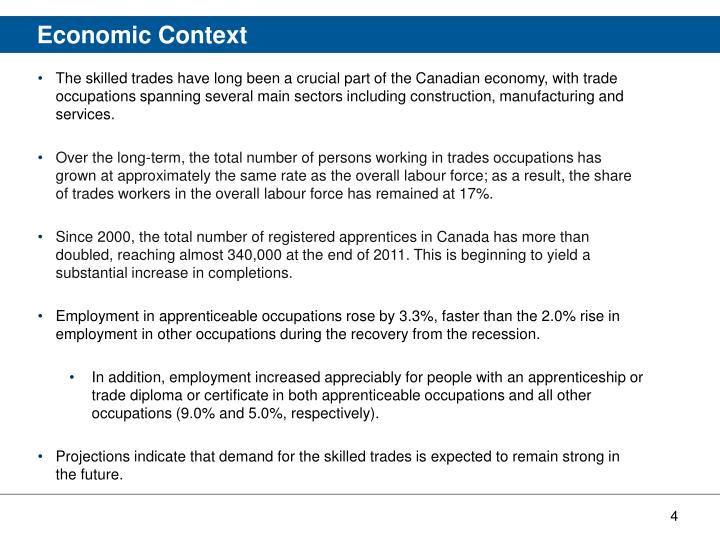 The skilled trades have long been a crucial part of the Canadian economy, with trade occupations spanning several main sectors including construction, manufacturing and services.