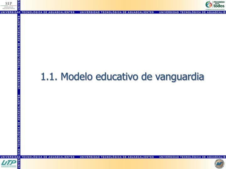 1.1. Modelo educativo de vanguardia
