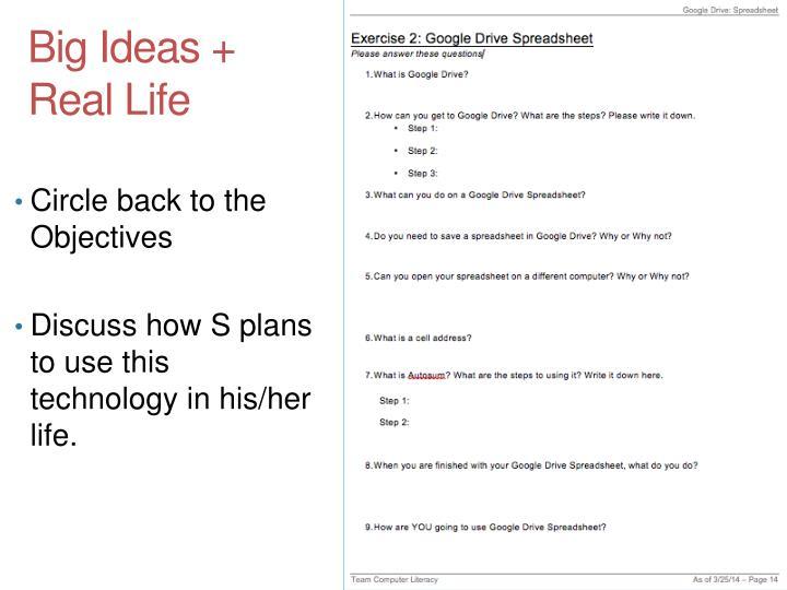 Big Ideas + Real Life