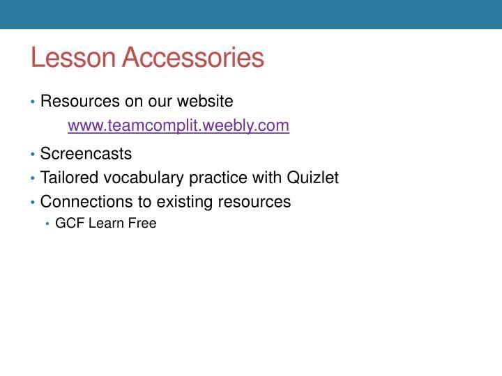 Lesson Accessories