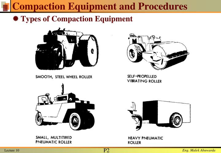 Compaction Equipment and Procedures