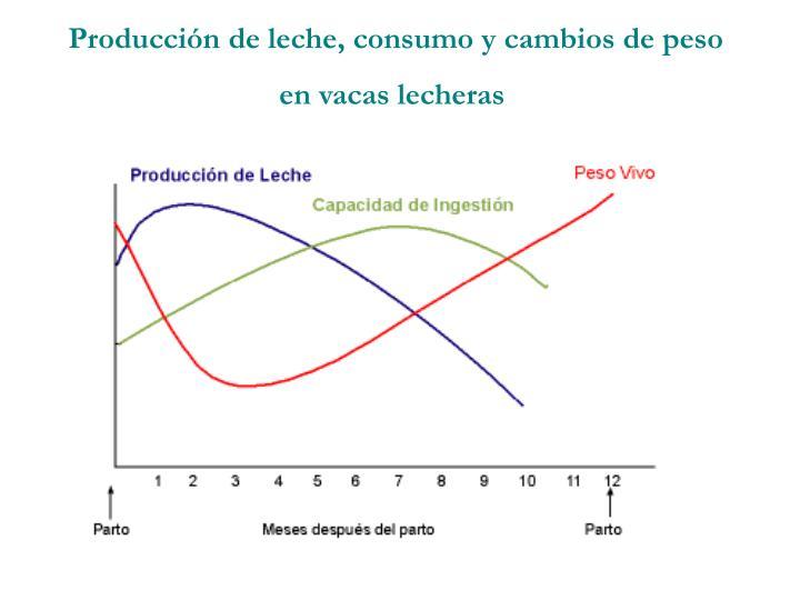 Producción de leche, consumo y cambios de peso