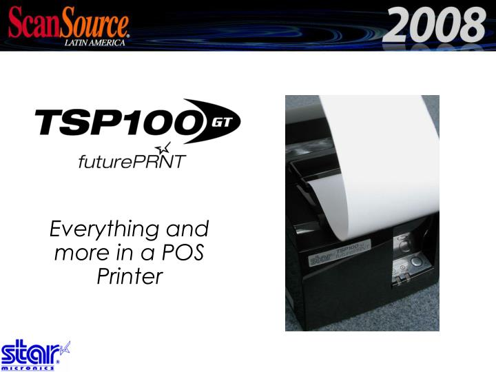 Everything and more in a POS Printer