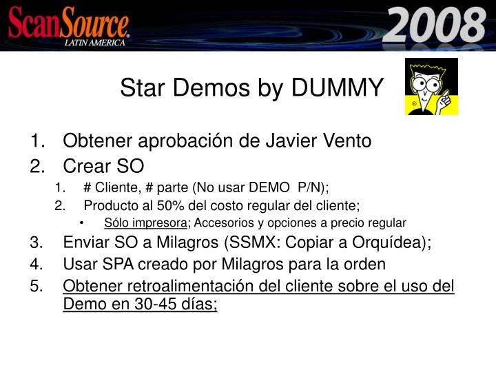 Star demos by dummy