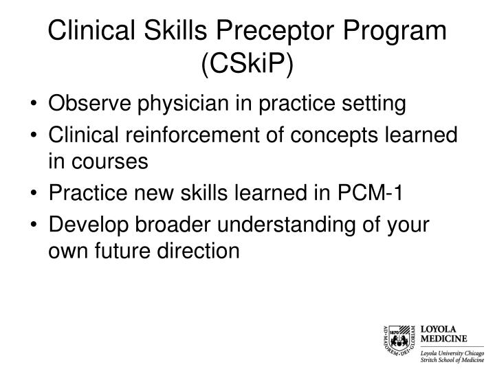 Clinical Skills Preceptor Program (