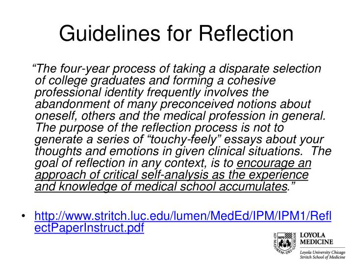 Guidelines for Reflection