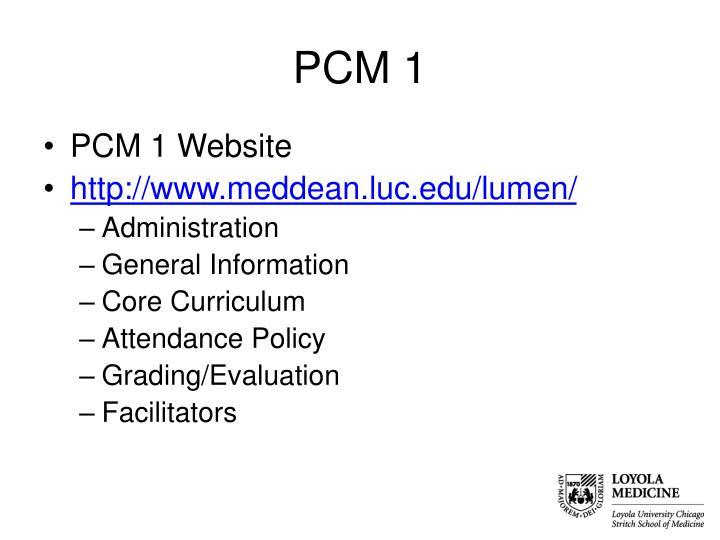 PCM 1