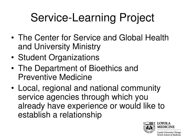Service-Learning Project