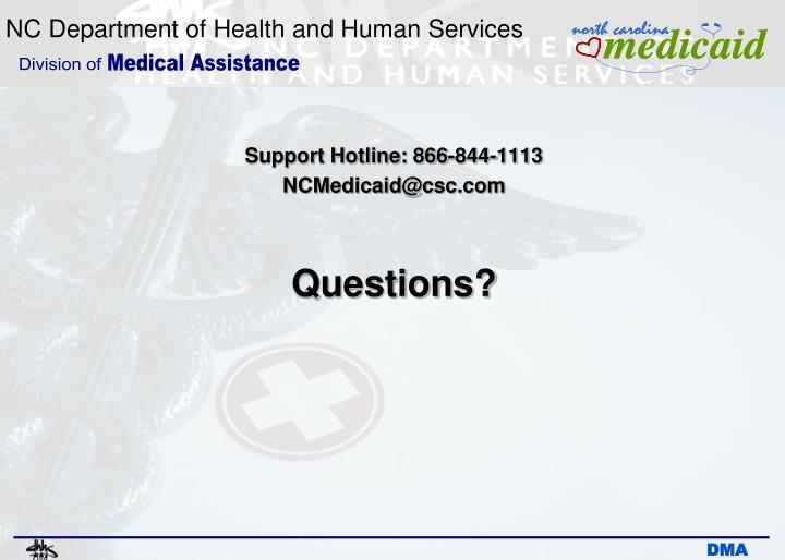 Support Hotline: 866-844-1113