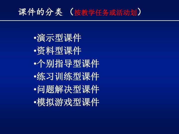 课件的分类 (