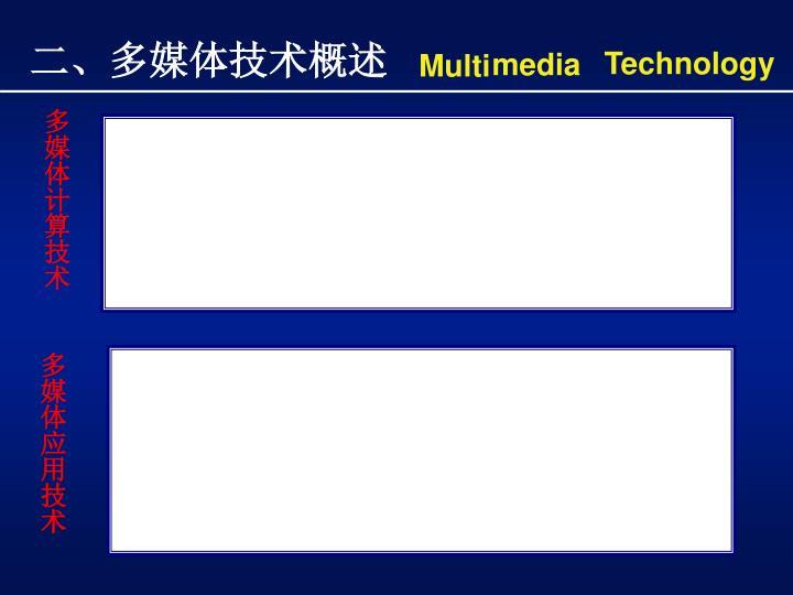 二、多媒体技术概述