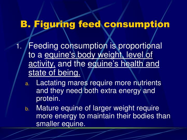 B. Figuring feed consumption