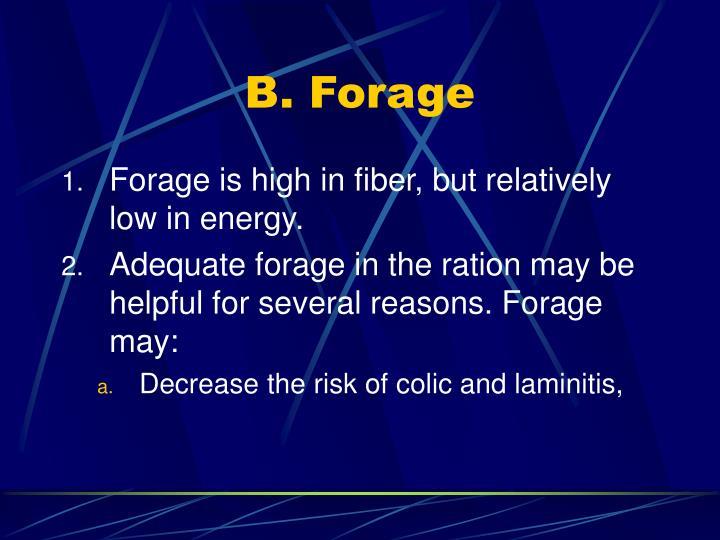 B. Forage