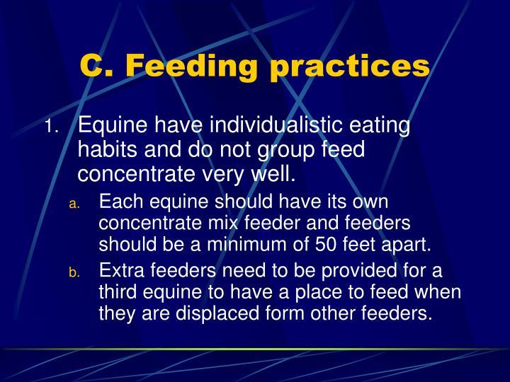 C. Feeding practices