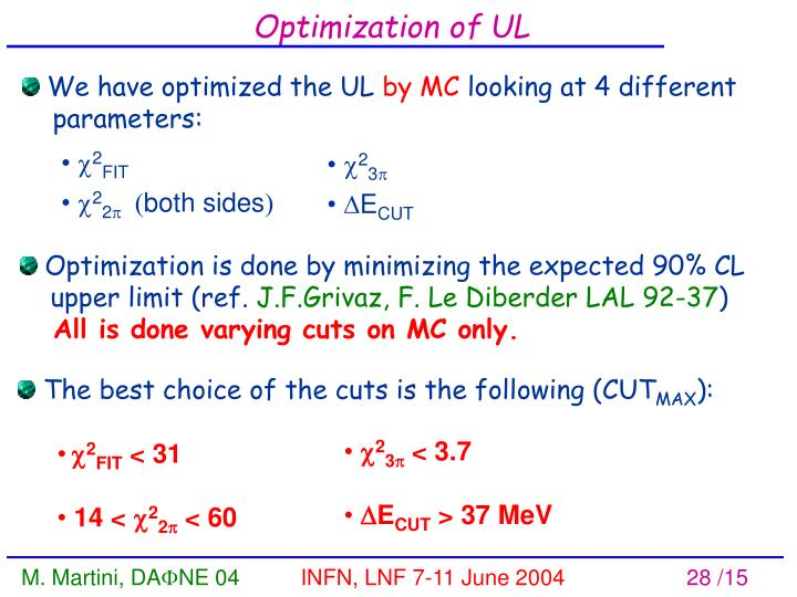 Optimization of UL