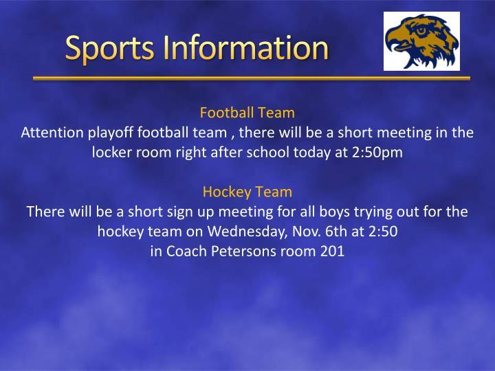 Sports Information