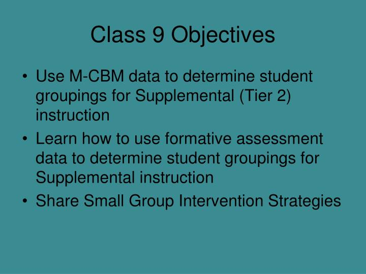 Class 9 Objectives
