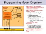 programming model overview10