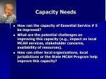 capacity needs