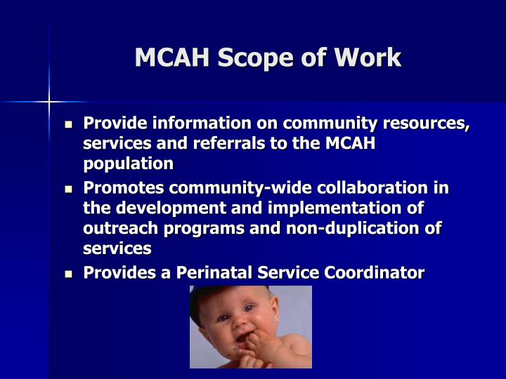 MCAH Scope of Work