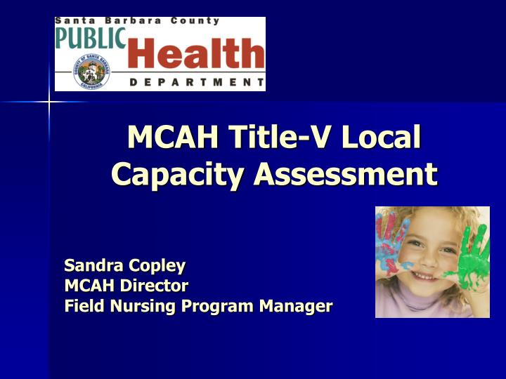 Mcah title v local capacity assessment