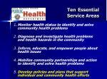 ten essential service areas