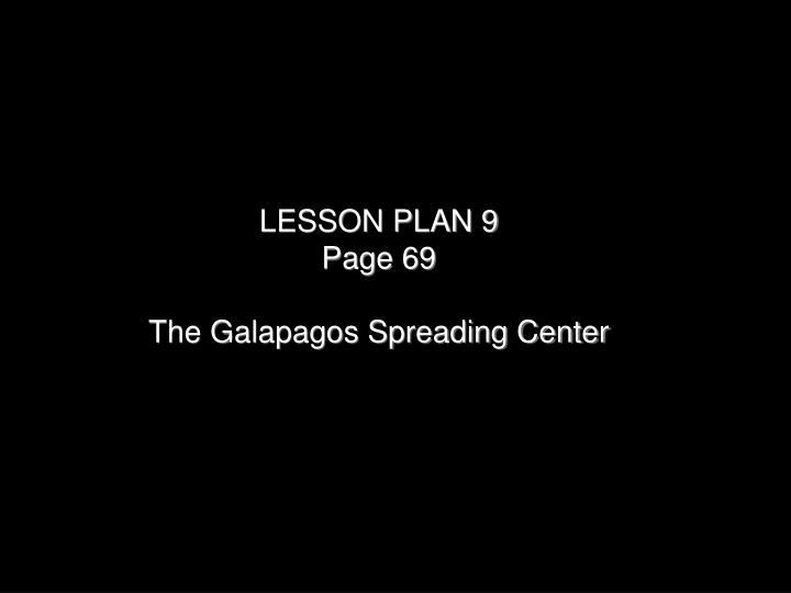 LESSON PLAN 9