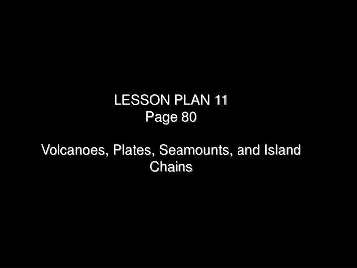 LESSON PLAN 11