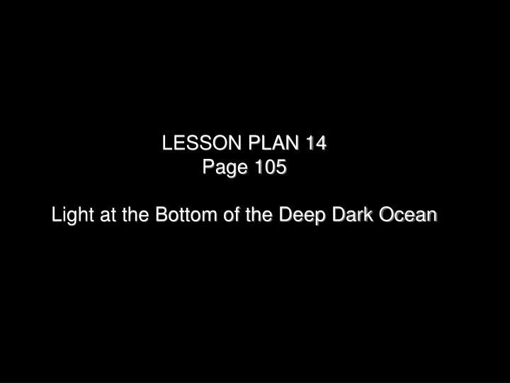 LESSON PLAN 14