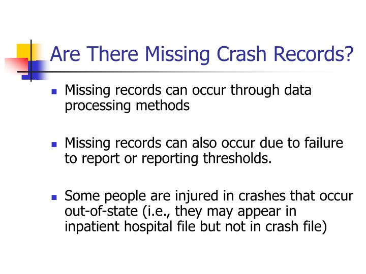Are There Missing Crash Records?