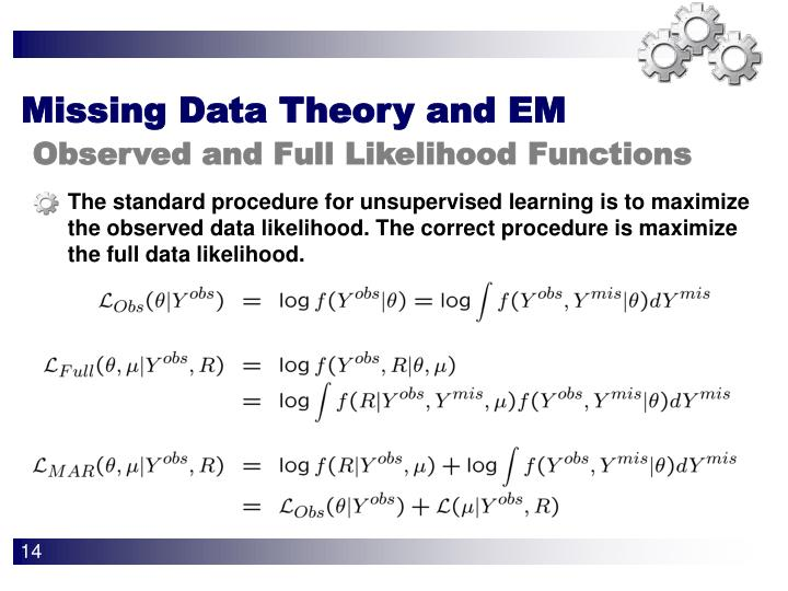 Missing Data Theory and EM
