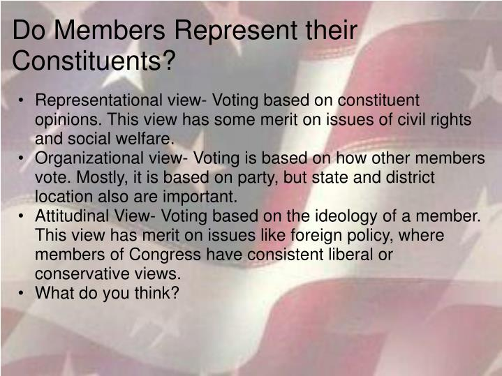 Do Members Represent their Constituents?