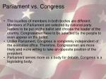 parliament vs congress