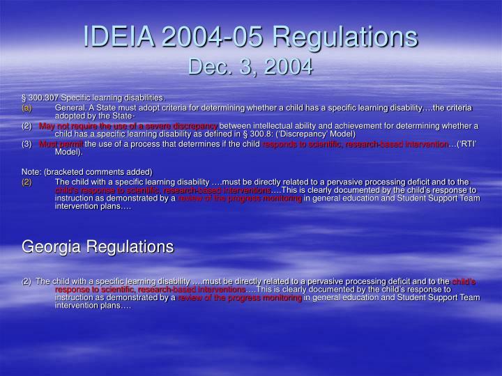 IDEIA 2004-05 Regulations
