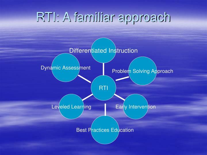 RTI: A familiar approach