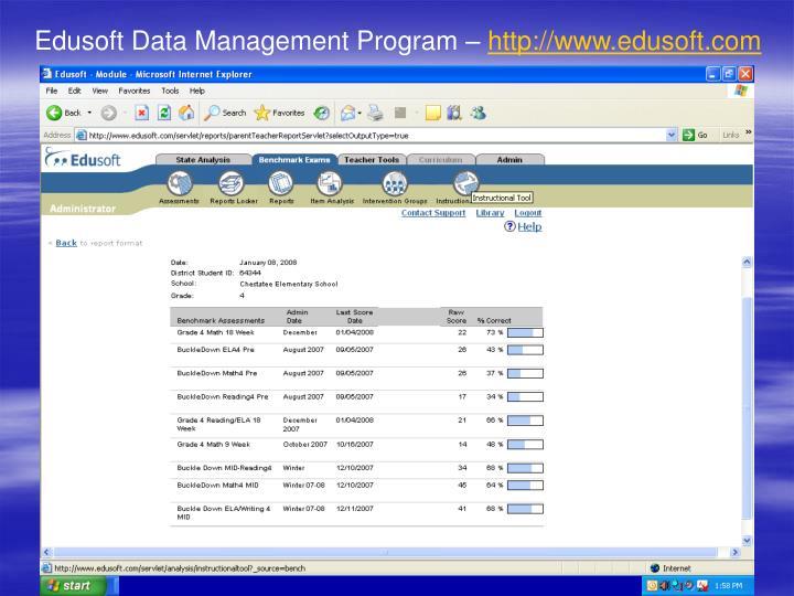 Edusoft Data Management Program –