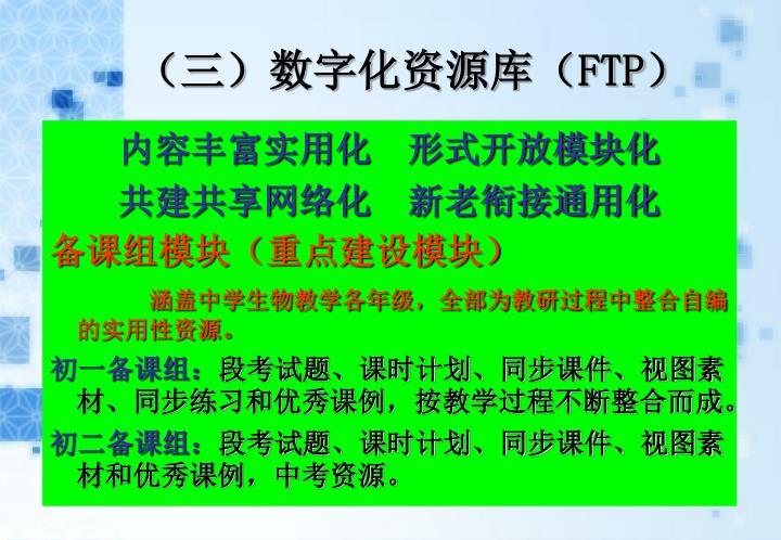 (三)数字化资源库(