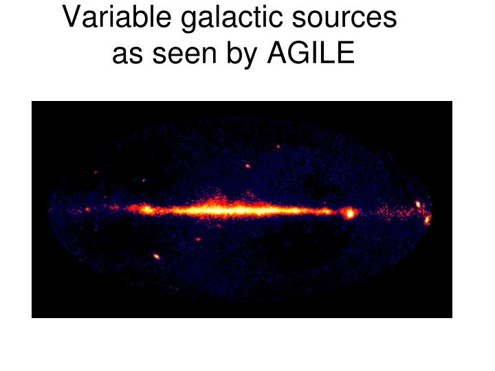 Variable galactic sources