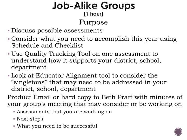 Job-Alike Groups