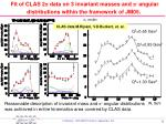 fit of clas 2 p data on 3 invariant masses and p angular distributions within the framework of jm05