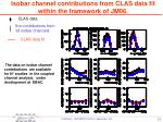 isobar channel contributions from clas data fit within the framework of jm06