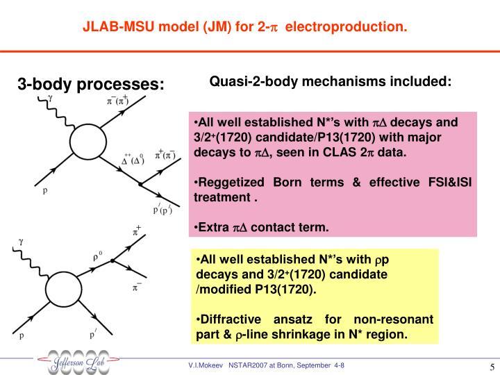 JLAB-MSU model (JM) for 2-