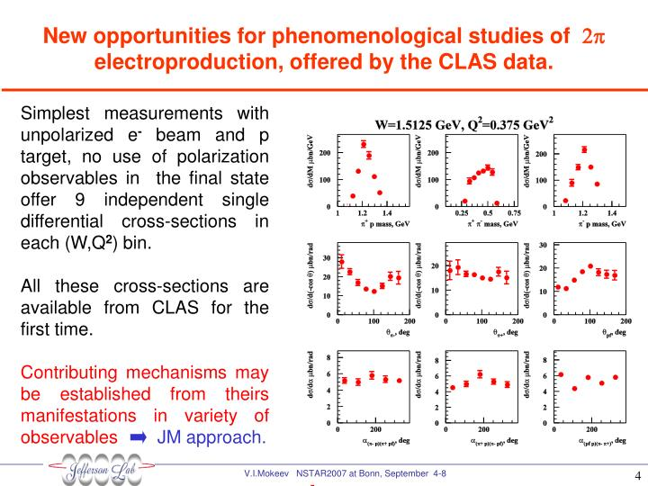 New opportunities for phenomenological studies of