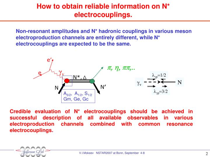 How to obtain reliable information on N* electrocouplings.