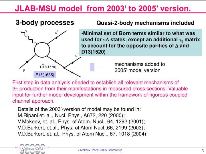 JLAB-MSU model  from 2003' to 2005' version.