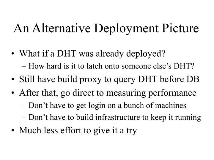 An Alternative Deployment Picture