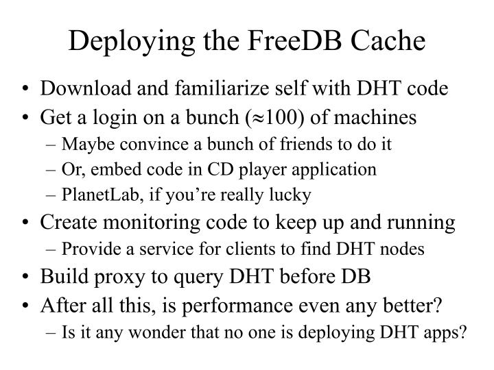 Deploying the FreeDB Cache