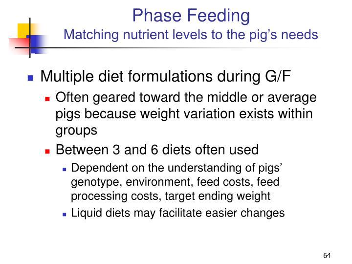 Phase Feeding